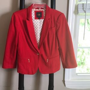 Red Banana Republic blazer with anchor lining